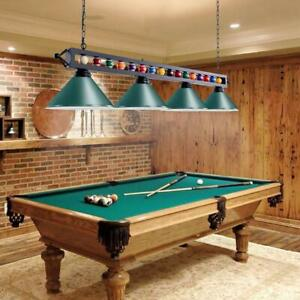 1.8m Pool Snooker Table Light Billiard Light with Balls Rod and 4 Metal Shades