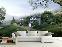 3D Mountain Villa Paper Wall Print Wall Decal Wall Deco Indoor Wall Murals