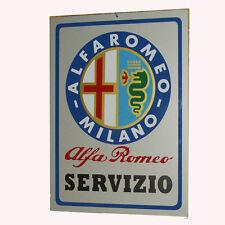 ALFA ROMEO SERVIZIO-  TARGA SU ALLUMINIO  ANCHE PER ESTERNO -  RIPROD. D'EPOCA