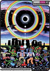 MENS T-SHIRT UV-Blacklight Glow-In-The-Dark Psychedelic Psy Goa Trance Art Club