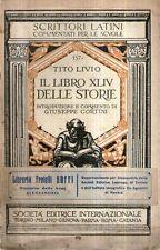 G1 Il libro XLIV delle storie Tito Livio Cortini Fratelli Boffi SEI 1938