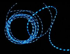 Blue 3M/9.8FT Flexible Neon Light Glow Motion Chasing EL Wire - adjustable speed