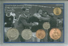 Scotland Scottish Football The Wembley Wizards Vintage Retro Coin Gift Set 1967