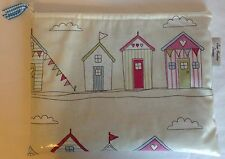 iPad bag,Tablet cover,iPad case,iPad Sleeve,  Pink Beach Hut Oilcloth