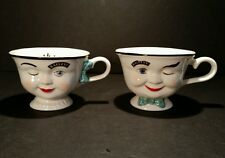 1996 Baileys Irish Creme Limited Edition Mugs Cups Yum Man Woman Winking