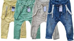 Haremshose Harems Baggy STRETCH Hose Gr. 40-42/44 Damen 12 Farben Made in Italy