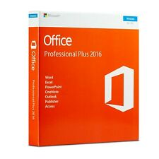 Microsoft Office 2016 Professional Plus Full Version Key with Retail DVD for 1PC