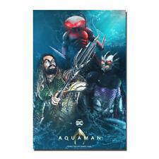 Aquaman 2018 Hot Movie Silk Cloth Art Poster Decor 19L