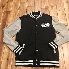 Star Wars Snap Front Jacket Letterman Baseball Style Size L (42/44) Lucas Film