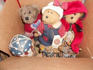 Boyd's Lot 6 -3 Plush Baileys, Freddy, 3 Figurines Bear Band, Ms Libearty, Betsy