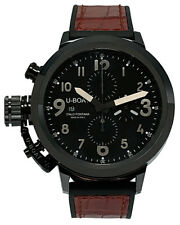 U-Boat Flightdeck 50 Automatic Chronograph Black Dial Men's Watch - 7388