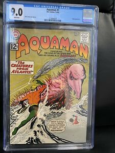 AQUAMAN #7 CGC 9.0 WHITE PAGES DC 1963 BEAUTY