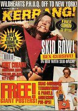 Seb Bach of Skid Row on Kerrang Cover 1995      Kurt Cobain     Bruce Dickinson