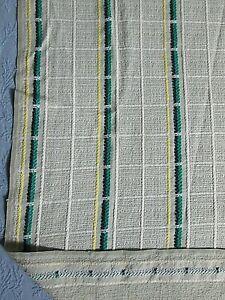 "Mid Century Vintage Bedspread Blanket Drapery 92"" x 69"""