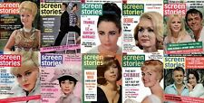 86 Vintage Screen Stories Magazines from 1964-1972