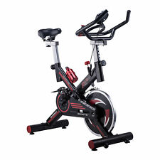 Pro fitness Stationary spinning Exercise Bike Cardio Indoor Cycling Bicycle Blk
