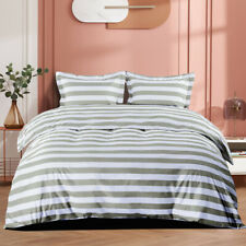 New ListingStripes Duvet Cover Set Twin Queen King -Microfiber- Stylish Quality Bedding Set