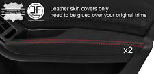 RED STITCH 2X FRONT DOOR ARMREST NAPPA LEATHER COVERS FITS AUDI A4 B8 08-15