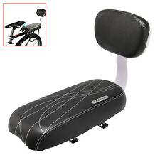 Black Bicycle Comfort Gel Rear Bike Seat Pad Cushion Cover Back Rest Saddle