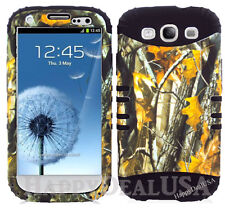 KoolKase Hybrid Silicone Cover Case for Samsung Galaxy S3 i9300 - Camo Mossy 08
