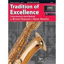 Tradition Of Excellence-Baritone Saxophone Music Book/Audio Level 1-Bari Sax-New