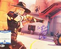 JENNIFER HALE ASHE SIGNED 11X14 PHOTO OVERWATCH BECKETT BAS COA 093