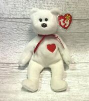 Valentino Bear PVC 4th/3rd Gen 1993 Retired Beanie Baby Valentines Collectible