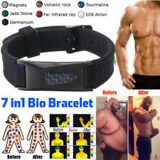 7 in 1 Men Titanium Magnetic Energy Germanium Armband Bracelet Health Bio