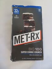 (4) MET-Rx Big 100 Meal Replacement Bars Super Cookie Crunch 3.52 Oz Each @7