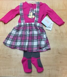 DISNEY BABY MINNIE MOUSE BABY GIRL JUMPER PINAFORE DRESS, PINK *CHECK FOR SIZE