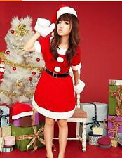 Girls Christmas Dress Cospay Santa Girl Clothes Party Stage Performance Costume