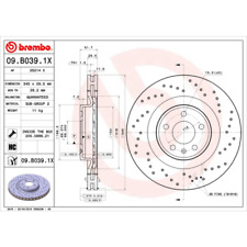 Bremsscheibe (2 Stück) BREMBO XTRA LINE - Brembo 09.B039.1X