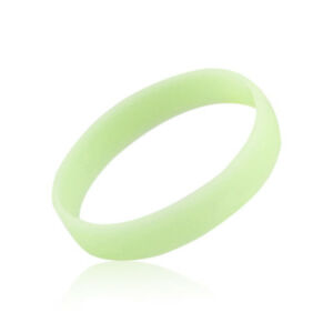 Glow In The Dark Luminous Silicone Rubber Wristband Wrist Band Bracelet Gift