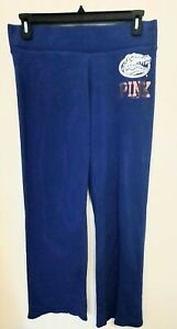 PINK Victoria's Secret Women's Large University of Florida Blue Sweatpants Gator