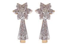 0,60 Cts Runde Brilliant Cut Diamanten Huggie Ohrringe In Hallmark 18K Gelbgold