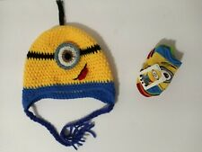 MINIONS Crochet Toddler Beanie & 5 pairs of socks multicolor-unisex,Fits 2-4Yrs.