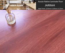 12mm Jarrah Laminate Flooring Floating Timber  Floor boards Click DIY