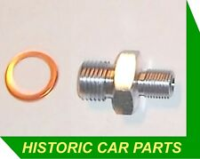Oil Pressure Gauge Pipe Engine Connector & washer for many 1950-60s Classic Cars