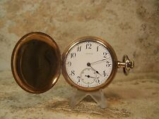 1912 Longines 15 Jewel 3 Adj 12s Gold Filled Hunter Case Pocket Watch...Running