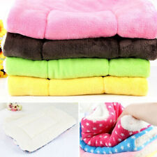 50*32cm Pet Dog Puppy Kennel Mat Coral Blanket Soft Warm Cushion Multi Colors