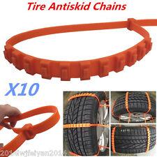 10x Car Truck Van Snow Wheel Tyre Tire Antiskid Chains Slip Thickened Tendon TPU