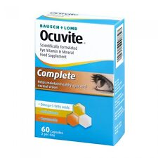 Bausch + Lomb Ocuvite Complete Eye Supplement 60 Capsules
