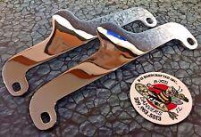 New Pair Rigid Sissy Bar Side Plates Harley 72-85 FX FXE Shovelhead Superglide