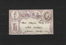 London 1865, rich illustrated violet advertising-stationary envelope, used