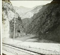 FRANCE ou ITALIE Montagne c1900, Photo Stereo Grande Plaque Verre VR9L4