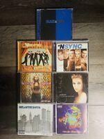 Lot Of 7 1990s 2000s Authentic Music CDs Original Nsync Backstreet Beastie Boys