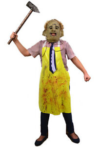 Authentic THE TEXAS CHAINSAW MASSACRE Leatherface Children's Costume NEW