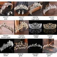 Wedding Bridal Crystal Tiara Princess Crown Lady Girl Headband Hair Accessories