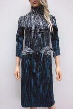 Vestiti da donna blu in misto cotone con colletto