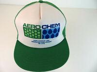 Vintage AeroChem Snapback Truckers Hat - Green Mesh American Challenger PS 1276